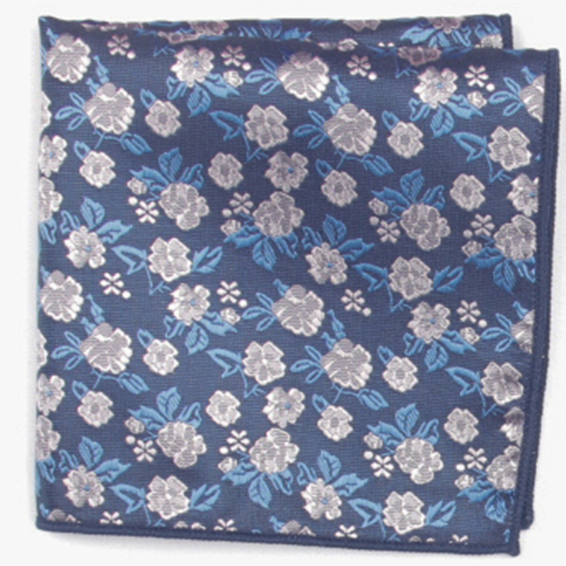 Flower Patterned Pocket Square With Patterns Handkerchief