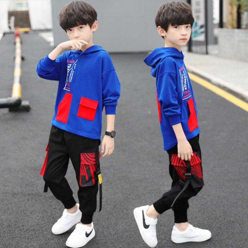 spring autumn kids cotton clothes sets Boys' Leisure Suit Coat + Boys' pants Sportswear Students Trousers 5