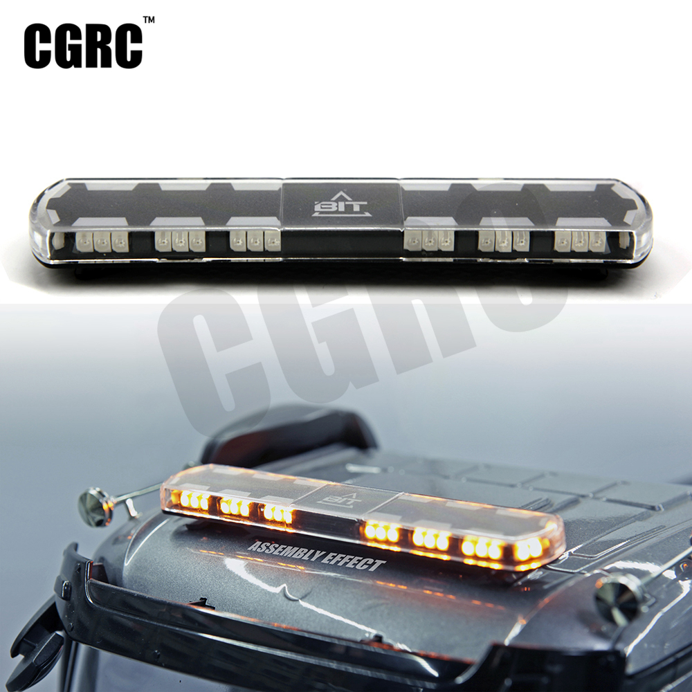 LED Firefighting Engineering Warning Ambulance Light 4 Color 18 Mode For 1/14 Tamyia RC Truck Dump Scania Actros Acros Man 3363