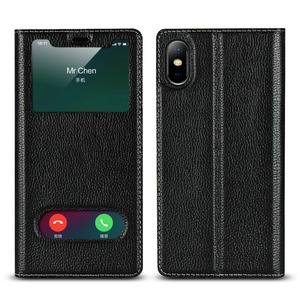 Image 3 - Genuine Leather Case For Apple iPhone 5 Se 6s 7 8 Plus iPhone X XR XS Max Vision Window Phone Cases Flip Case Leather Cover