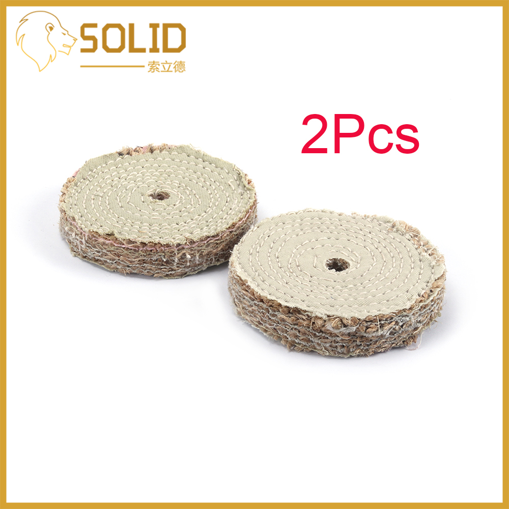 Sisal Buffing Wheel Stainless Steel Metal Polishing Abrasive Tools For Metal And Aluminum 2Pcs