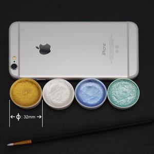 Image 3 - 12 renk metalik suluboya seti altın Pigment boya Waterbrush sanatçı boyama için Glitter su renk sanat malzemeleri