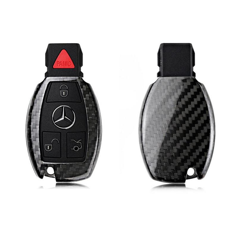 2019 Carbon Fiber Remote Keyless Key Case Cover Shell For Mercedes Benz W203 W210 W211 W124 W202 W204 W205 W212 W176 Key Fob New