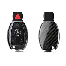 2019 Carbon Fiber Remote Keyless Key Case Cover Shell Voor Mercedes Benz W203 W210 W211 W124 W202 W204 W205 W212 w176 Sleutelhanger Nieuwe(China)