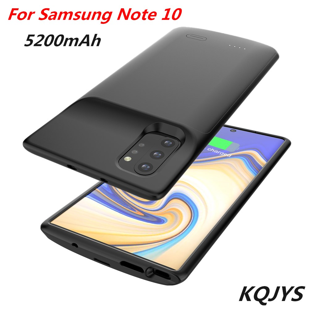 KQJYS 5200mAh External Backup Power Bank Charging Cases For Samsung Galaxy Note 10 Battery Case