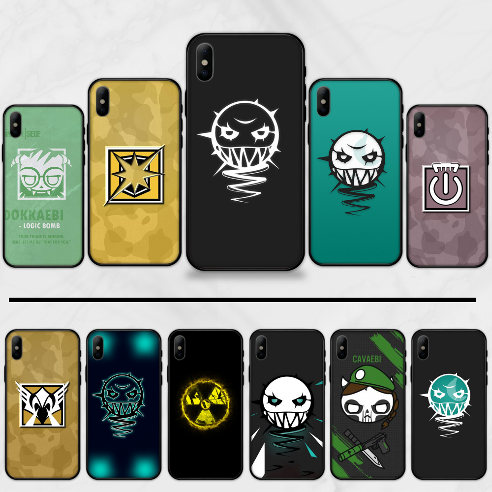Rainbow Six Siege Panas TPU Lembut Silicone Ponsel Case PENUTUP UNTUK iPhone 5 5S SE 5C 6 6S 7 8 plus X XS XR 11 Pro Max