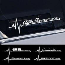 Pegatinas de ventana lateral de coche, accesorios de película de vinilo para Alfa Romeo 159 Giulietta Giulia 147 156 Mito Stelvio GT, 2 uds.