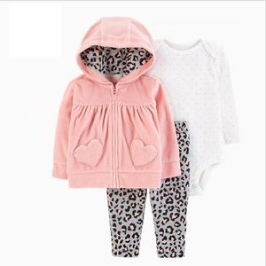 Image 1 - BABY GIRL CLOTHES long sleeve hooded coat+bodysuit cotton+pants newborn boy set winter fall infant clothing 2020 new born outfit