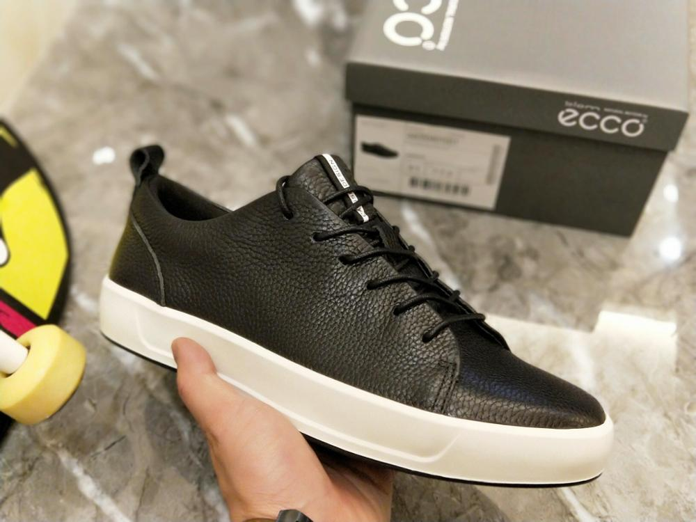 2020 ECCO Sports And Leisure Men's Leather Shoes, Fashionable Soft And Comfortable Wear-resistant Shoes, Men Casual Shoes 440504