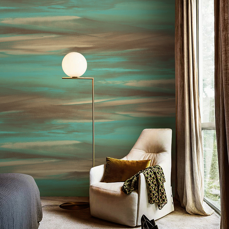 Fashion Color Texture Wallpaper Personality Abstraction Art Wallpaper Roll Bedroom Living Room