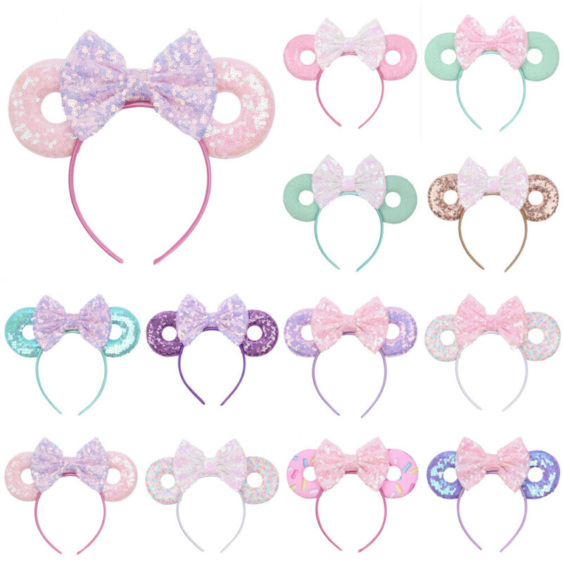 The Newest Cute Baby Girls Kids Bunny Bow Knot Turban Headband Hair Band Christmas Headbands