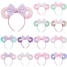 The Newest Cute Baby Girls Kids Bunny Bow Knot Turban Headband Hair Band Christmas Headbands