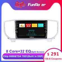 Funrover 4G+64G Android 9.0 Car Radio Multimedia Player GPS Navigator For KIA Sportage 4 2016 2017 2018 2019 KX5 Audio 2Din dvd
