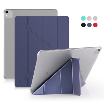 For iPad Pro 12 9 Case 2020 2018 PU Leather Smart Cover 3th 4th Generation PC Hard Back Tablet