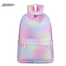 Радужный рюкзак женский холщовый 2020 водонепроницаемый для