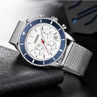 Venta de liquidación. CADISEN-relojes cronógrafo para hombre, reloj de pulsera deportivo de lujo, resistente al agua, de cuarzo, Masculino, 2020