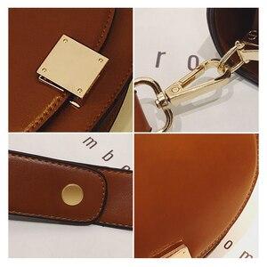 Image 4 - Brand Hoge Kwaliteit Pu Leer Vrouwen Hasp Zadel Tassen Designer Luxe Vrouwen Tas 2020 Famale Vintage Schouder Messenger Bags