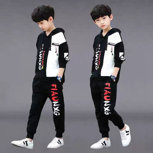 Boys Clothes Set Sweatshirt Pants 2 Piece Outfit Spring Autumn Kids Sport Suit Children Clothing 7 8 9 10 11 12 Year(China)