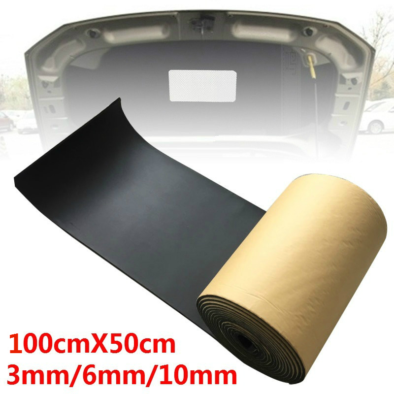 100cmx50cm 3mm 6mm 10mm Car Sound Proofing Deadening Car Truck Anti-noise Sound Insulation Cotton Heat Closed Cell Foam Self Adh