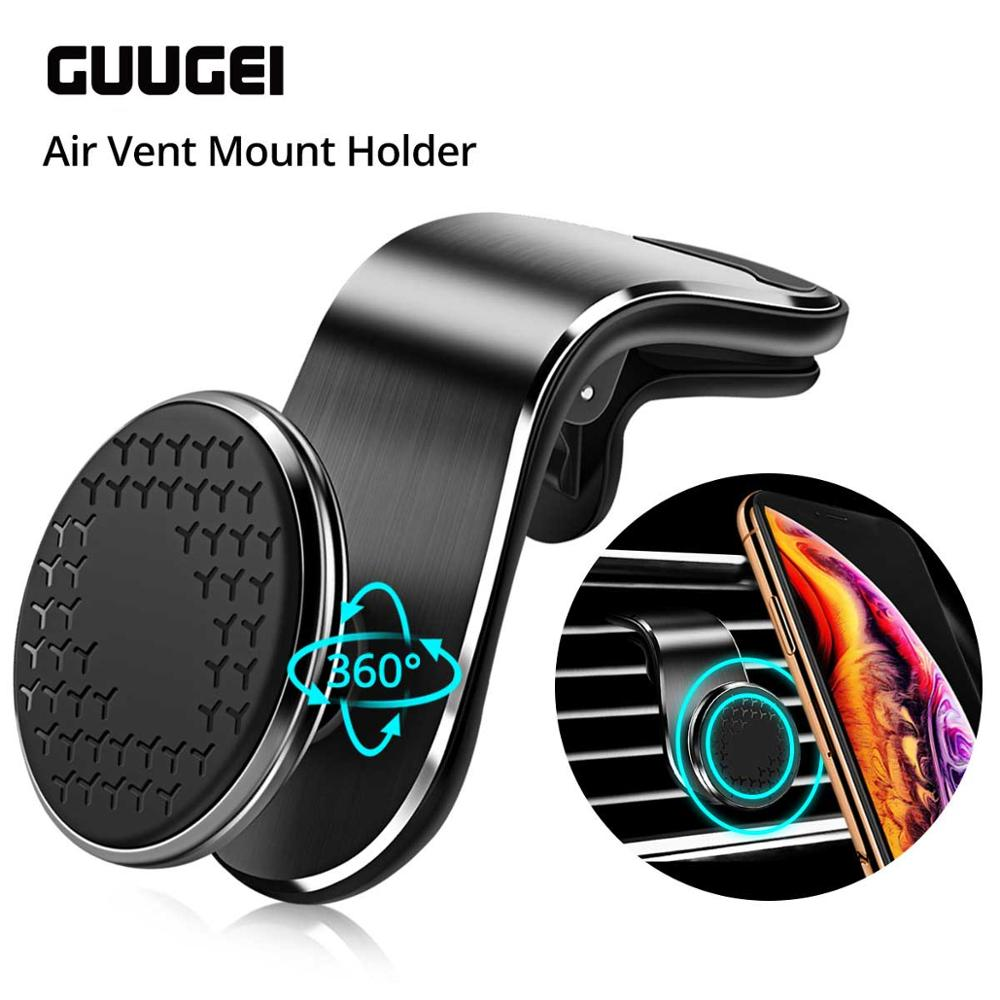 GUUGEI Magnetic Car Phone Holder For Iphone11 Universal Air Outlet Metal Magnetic Navigation Car Bracket 360 Degree Rotation