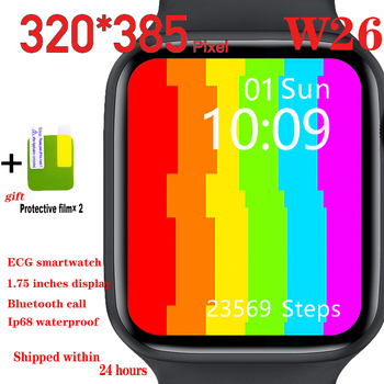 Iwo W26 Smart Watch 2020 for Men 44mm 40mm Android Ios Watches 1.75 Display Bluetooth Call Smartwatch Women Pk Iwo 12 Pro Smart iwo12 plus smart watch for android ios phone 44mm series 5 watches men women bluetooth call heart rate smartwatch vs iwo 12 13