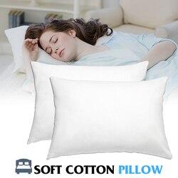High Elastic Cotton Filled Bedding Soft Pillow Comfotable Nursing Neck Hotel Home Pillow White Health Care Sleeping Brand New