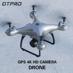 OTPRO 4k 1080p Profissional kamera FPV Wifi RC drony GPS mini Drone Selfie śledź mnie Quadrocopter zabawki chłopiec vs S20 H68G w Helikoptery RC od Zabawki i hobby na