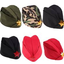 1PC Gold Star Military Stage Performance Sailor Dance Boat Cap Russian Army Cap Party Supplies(China)