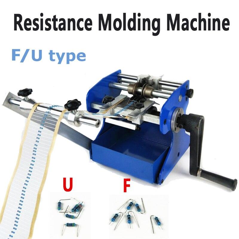 U/ F type Resistor Axial Lead bend cut & form machine, U/F resistance forming molding machine
