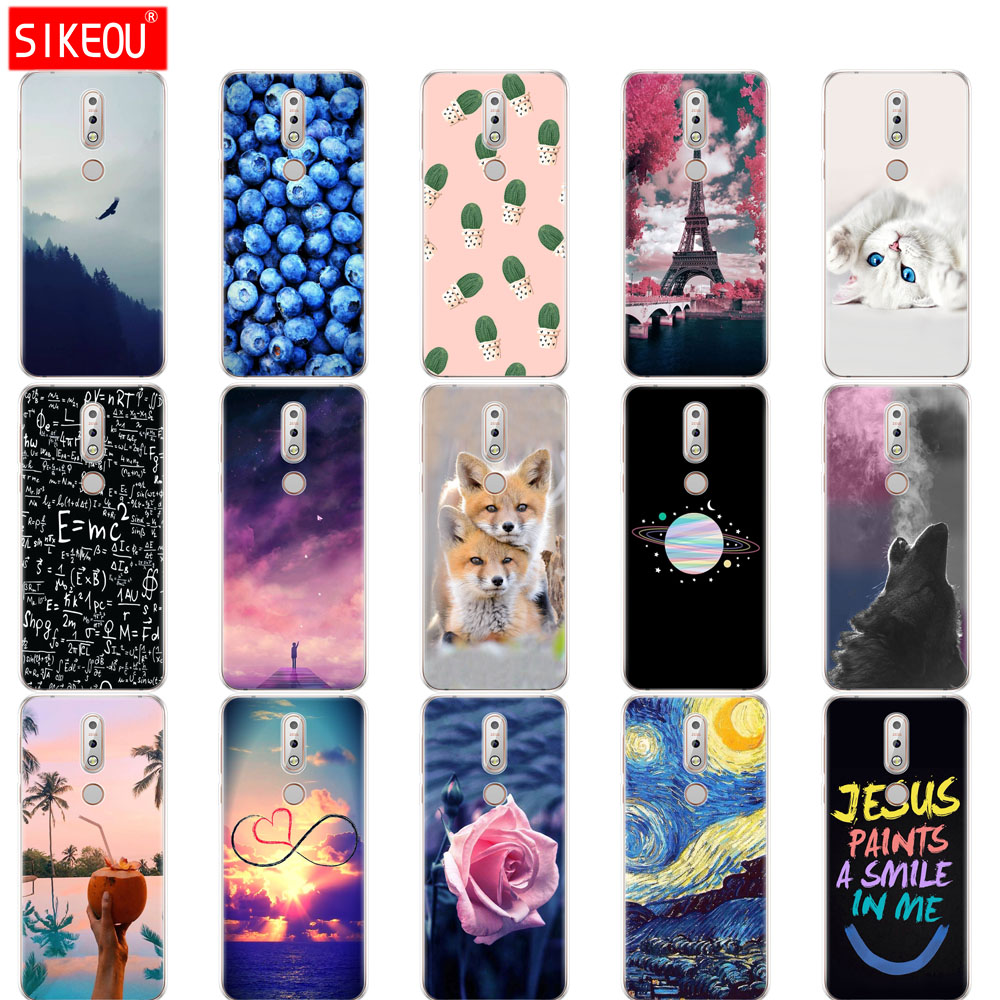 silicone case For coque <font><b>Nokia</b></font> <font><b>7.1</b></font> Case 5.84 inch soft cover for <font><b>Nokia</b></font> 7 2018 coqa phone bag Print Painted Shells Bags Fundas image