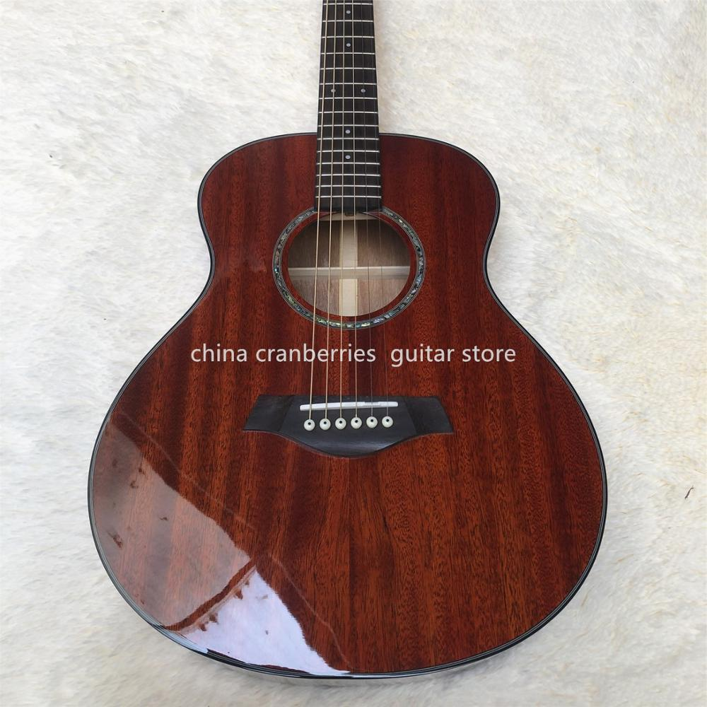 <font><b>36</b></font> inch Chaylor mahogany acoustic <font><b>guitar</b></font>,mini <font><b>guitar</b></font> for child,all mahogany wood,rosewood fingerboard,Free shipping image