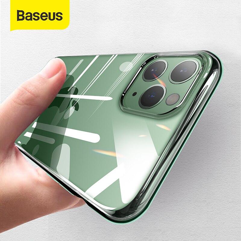 Baseus yüksek şeffaf silikon kılıf iPhone 11 Pro kılıf Ultra ince yumuşak TPU kapak kılıf iPhone 11 Pro max kılıf kapak