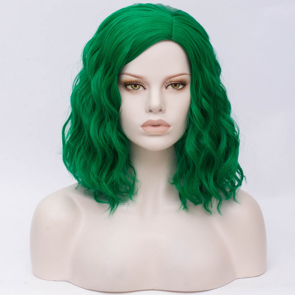 cabelo sintético laranja verde roxo rosa azul