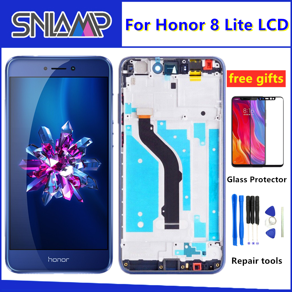 Original LCD For HUAWEI Honor 8 Lite Display Touch Screen For Honor 8 Lite LCD Diaplay with Frame PRA TL10 PRA LX1 LX3|Mobile Phone LCD Screens| |  - title=