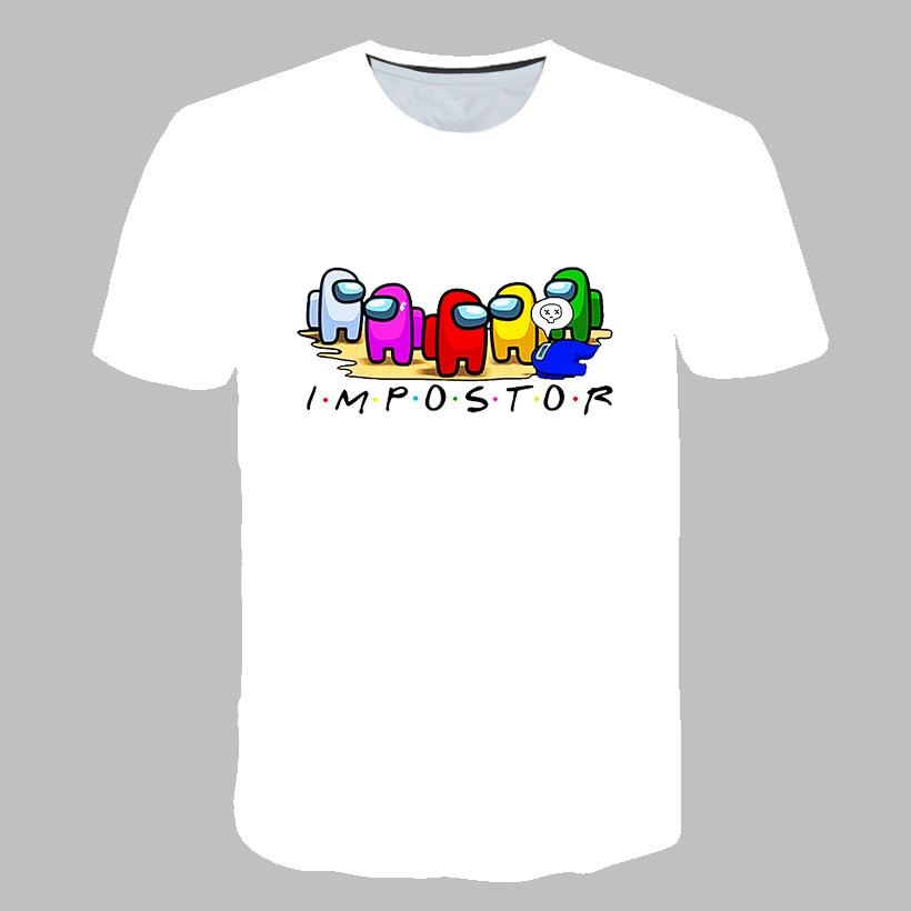 Летняя футболка с 3D мультяшным принтом «Игра среди нас», мужские и женские футболки, повседневная футболка с коротким рукавом и принтом, нов...
