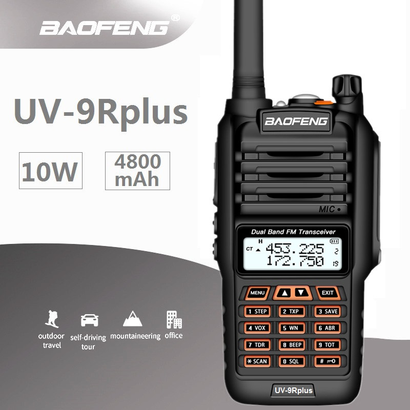 2019 BAOFENG 10W UV-9R PLUS Waterproof Walkie Talkie UHF VHF Marine CB Ham Radio Station HF Transceiver Radio Amateur Scanner