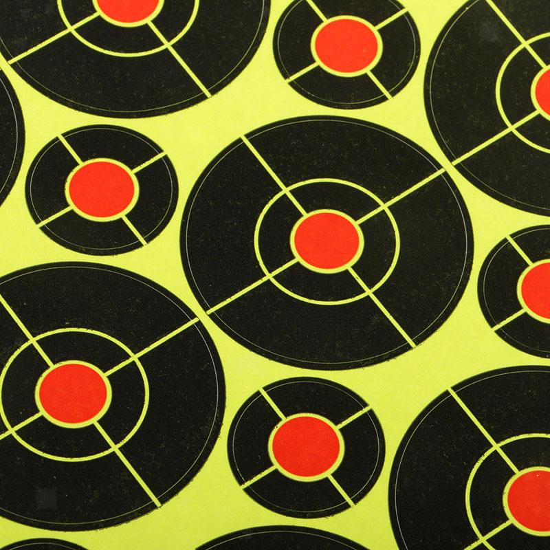 Florescent Target Shooting Stickers Paper Sports High Visibility 160PCS 2 Inch Replacement