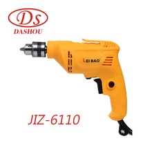 DS Multi-function Hand-held Electric Drill Stepless Speed Regulation JIZ-6110 Household Micro Electric Hand Drill Tool 220V 220v 530w 1pc screw speed control hand held electric drill automatic continuous electric screw gun wood finishing tool