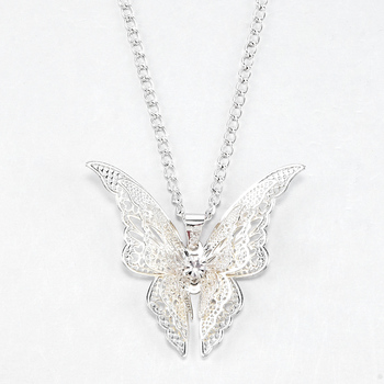 2020 High Quanlity Women Lady Elegant Openwork Butterfly Pendant Long Chain Necklace Sweater Accessories Necklace Jewelry 3