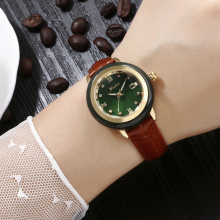 Новейшие женские нефритовые часы с улучшенным механизмом коричневый