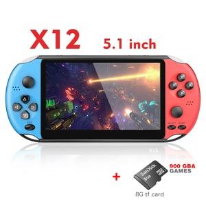 Image 3 - RETROMAX consola portátil de videojuegos X12 de 5,1 pulgadas, compatibilidad con salida de TV, Retro