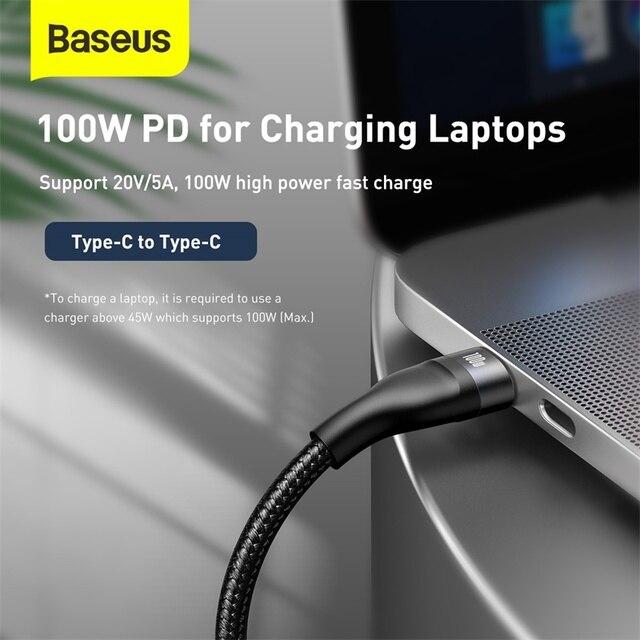 Baseus 3 in 1 USB Ladekabel PD 100W 4