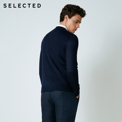 SELECTED 100% Wool Sweater Italian Merino V Collar Knit Clothes Men's Lightweight Knitwear Pullovers S | 418424501 6