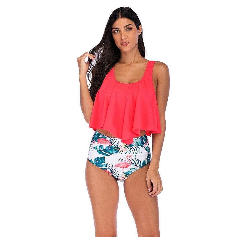 2019 Bathing Suit Women's Europe And America Women's Split Type Bikini Flounced Multi-color Swimwear AliExpress Amazon Hot Selli