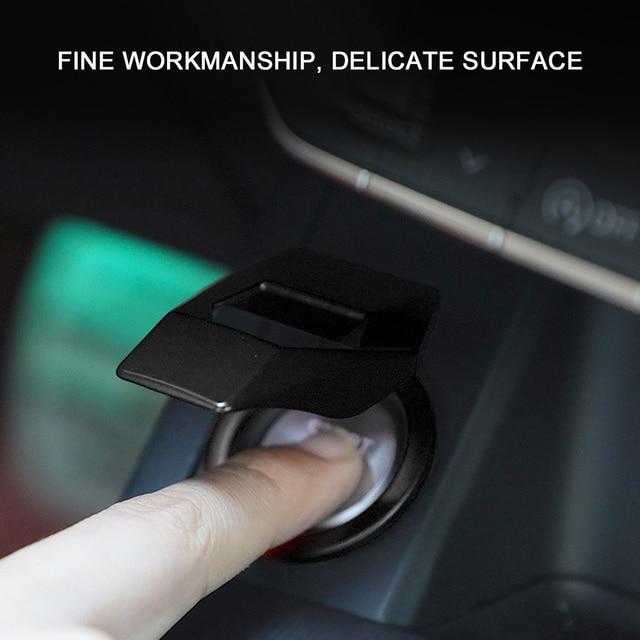 Voiture moteur démarrage bouton darrêt couverture garniture allumage autocollant voiture décoration intérieure accessoires pour Lamborghini
