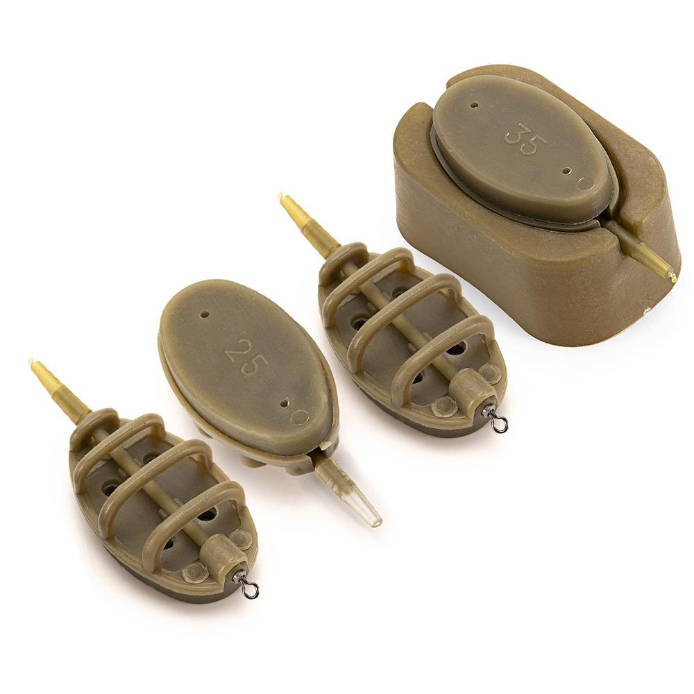 Method Feeder with Quick Release Mould for Carp Fishing Bait Holder Flat