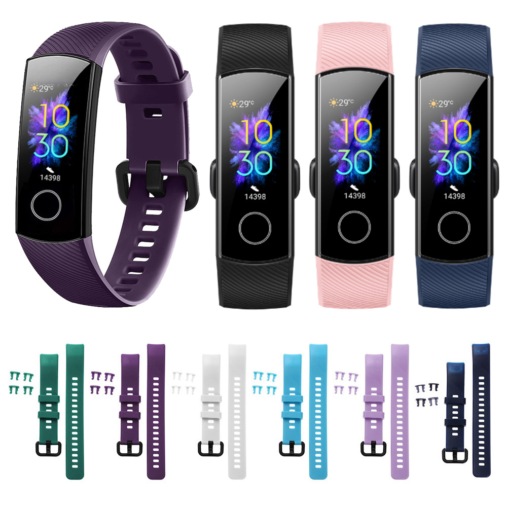 New Coming Colorful Sports Bracelet For Huawei Honor Band 5 4 Smart Wristband Replacement Strap Silicone Watch Band