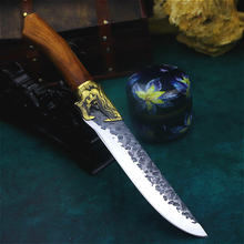 Китайский нож longquan с круговой дугой мясной шеф повара подставкой
