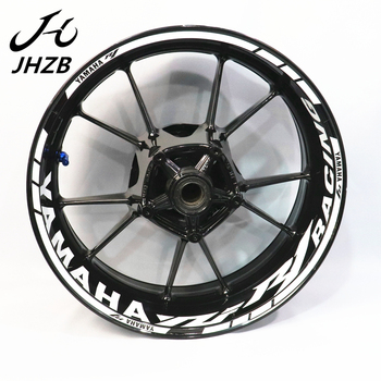 цена на For yama ha R1 r1m motorcycle modified wheel hub sticker waterproof reflective wheel rim Decal color wheel edge strip Inner Ri