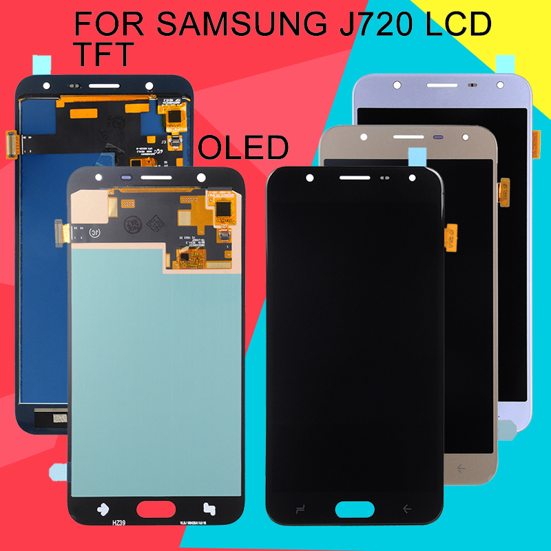 Dinamico J7 2018 Display For Samsung Galaxy <font><b>J720</b></font> <font><b>Lcd</b></font> J720F J720M Display With Touch Screen Digitizer Assembly Free Shipping+Tool image